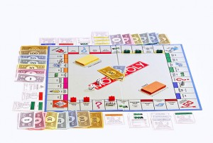 image of monopoly board, metaphor for everything can be gamed